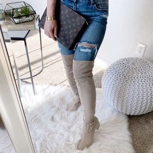 New Suede Over The Knee Ivanka Trump Boots